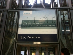 Siemens Billboard at Heathrow Airport