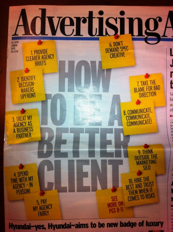Advertising Age (US) Front Cover - Something Most Agencies Can Relate To