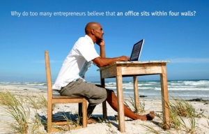 An entrepreneurs office without 4 walls?