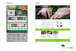 Before and after website design - why sometimes you have to start from scratch