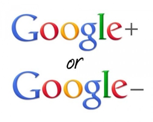 Google Plus or is that Minus?
